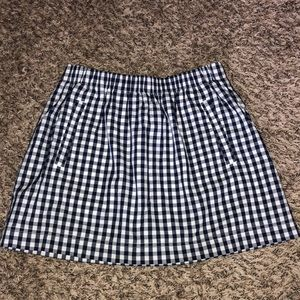J.Crew checkered skirt with pockets
